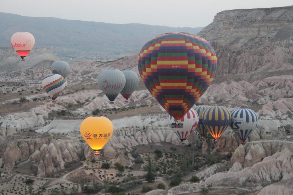 Baloane cu aer cald în Cappadocia