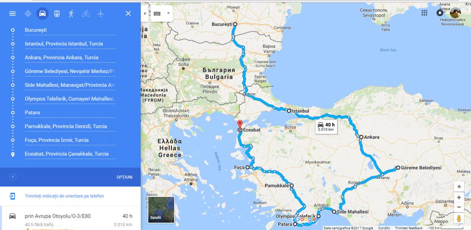 Road trip Turcia