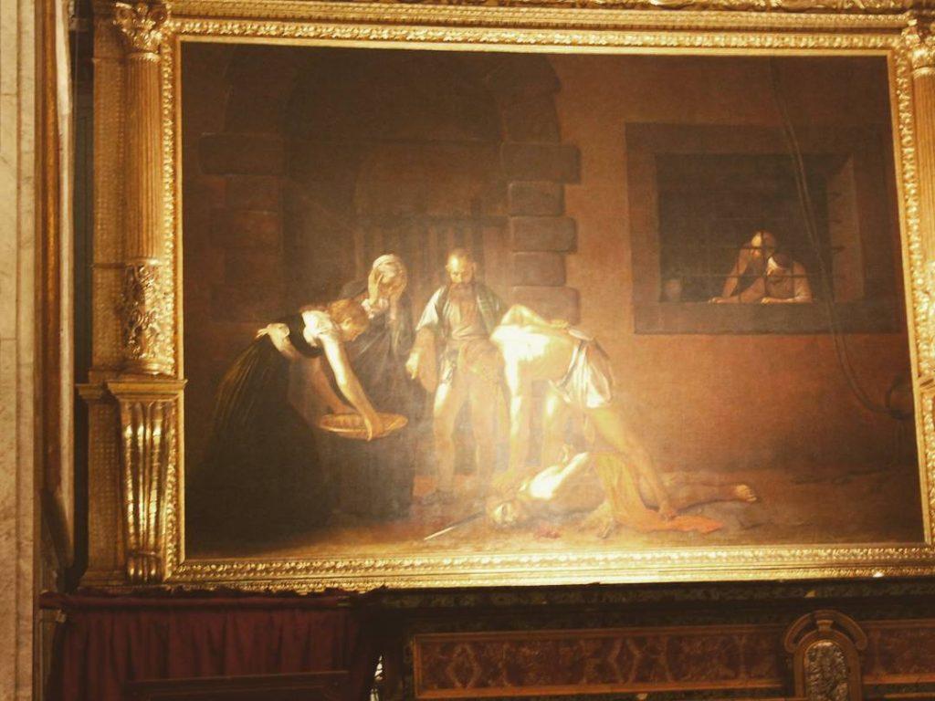 Poză nu tocmai reușită cu Tăierea Capului Sfântului Ioan