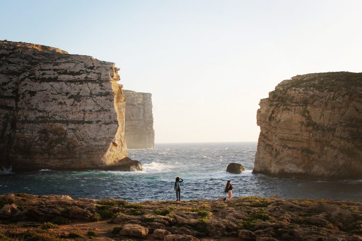 Impresionanta zonă de coastă de la Dwejra