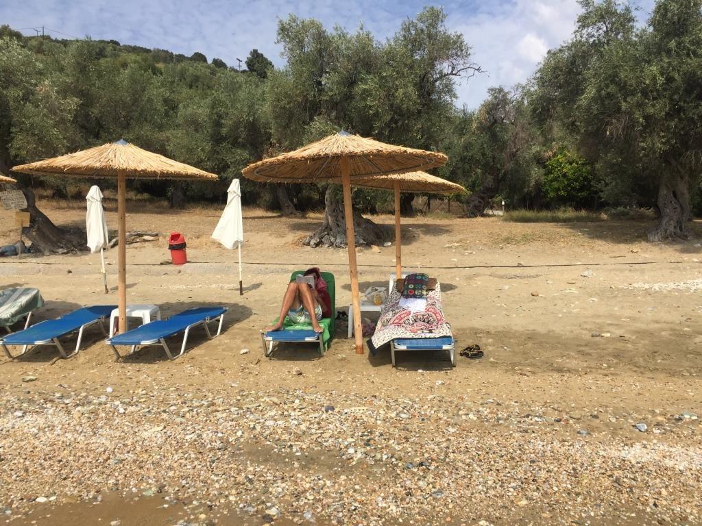 Plaja mare din Platanias - cam așa au arătat toate zilele