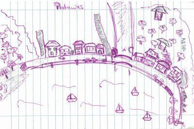 Harta detaliată și la scară a satului Platanias. ing. arh. Ramona