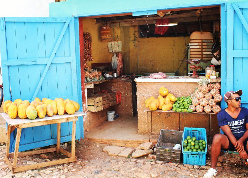 O piață în Trinidad