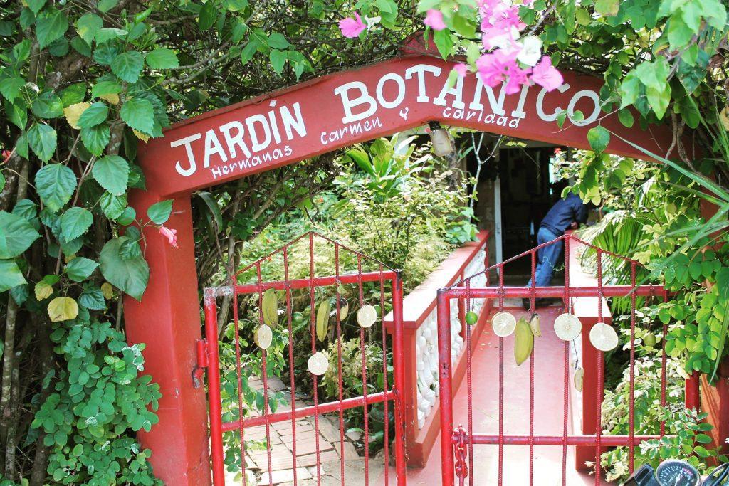 Grădina botanică, intrarea