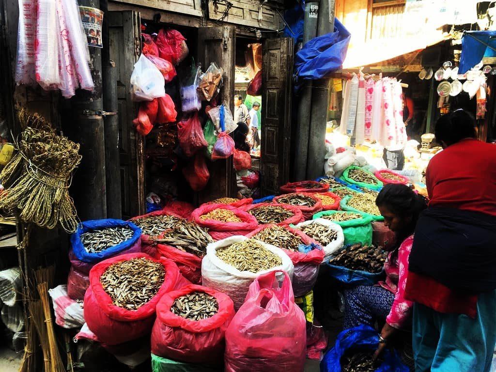 Pește la piață, Kathmandu