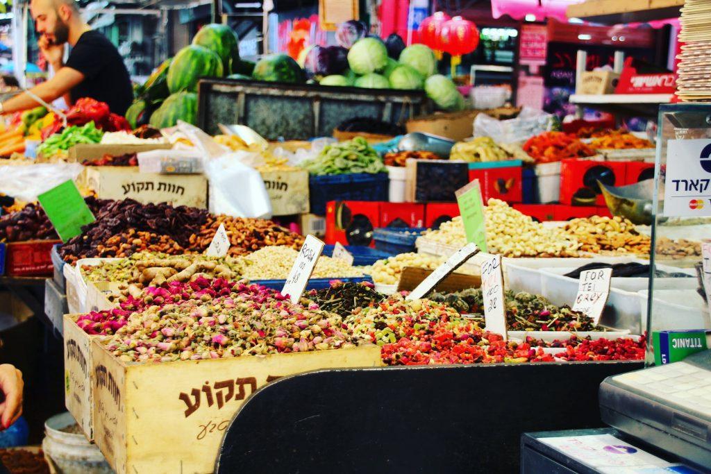 Ceaiuri și mirodenii la piața Carmel, Tel Aviv