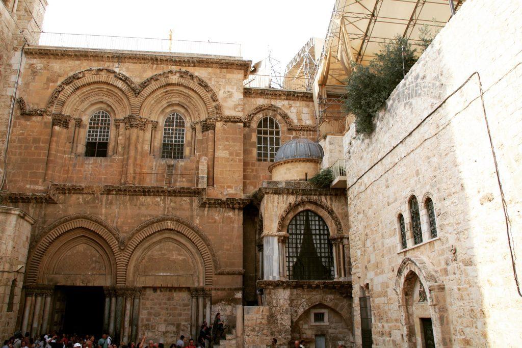 Exteriorul Bisericii Sfântului Mormânt