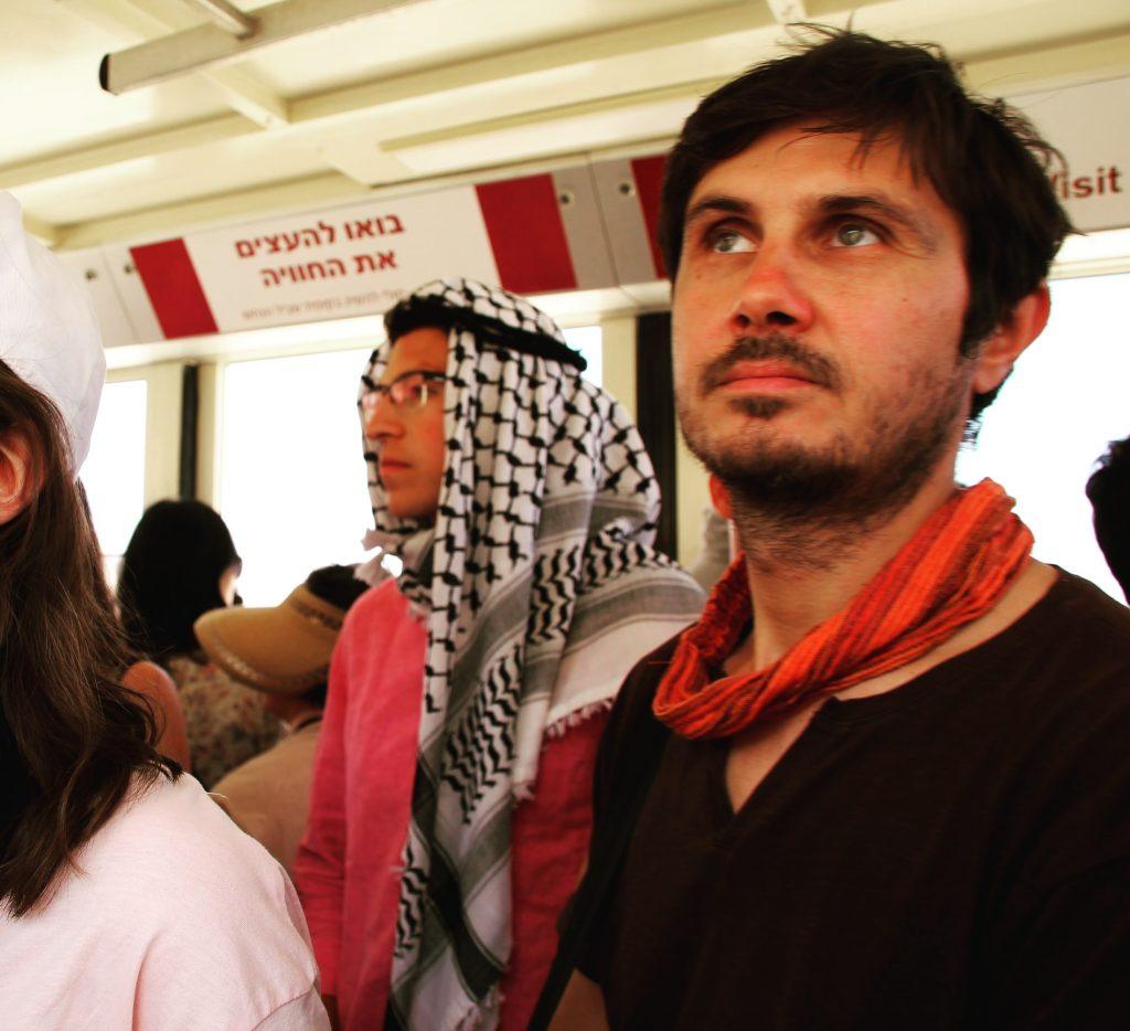 Răzvan, când încă nu realizase că la Masada sunt ruine