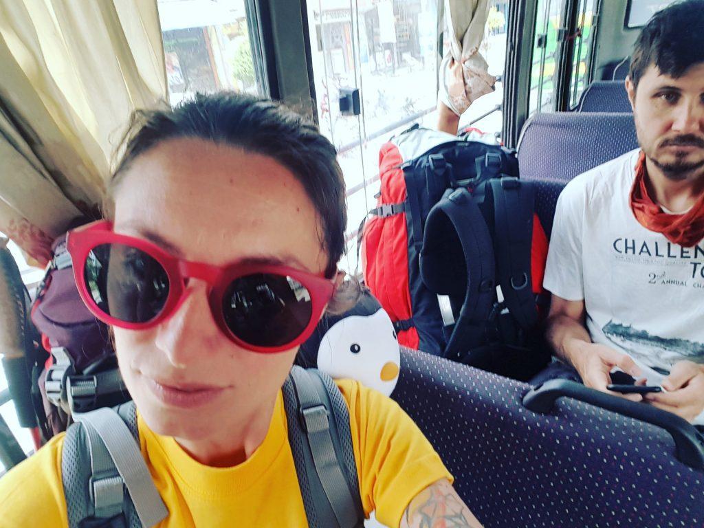 În autobuz prin Pokhara