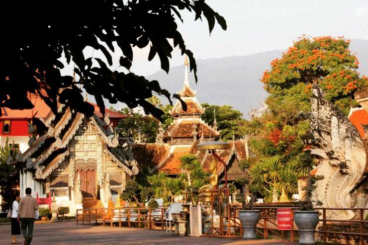 Wat Chedi Luang, dis de dimineață