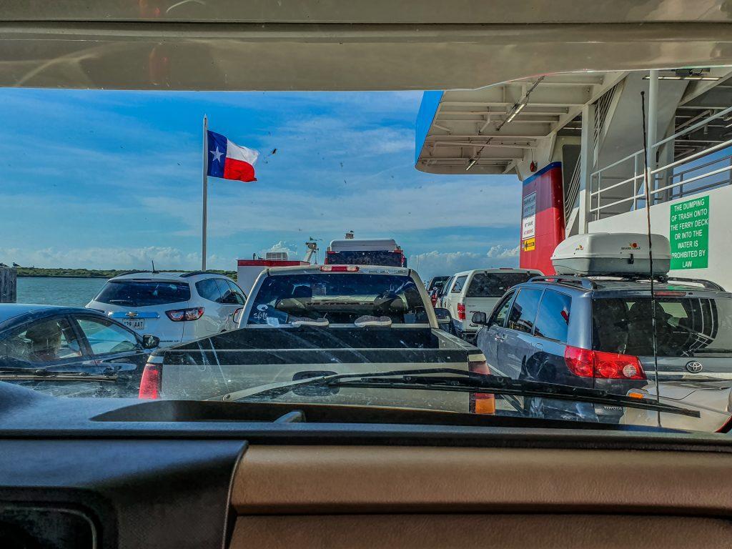 Pe ferry, în Texas