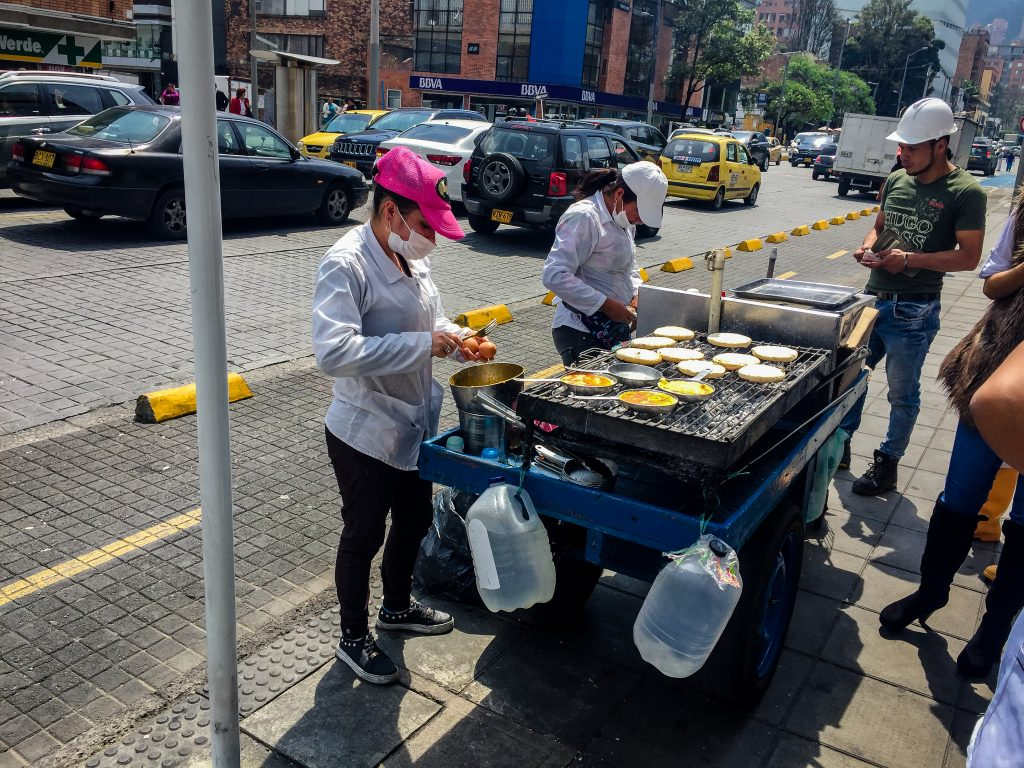 Street food, in Bogota