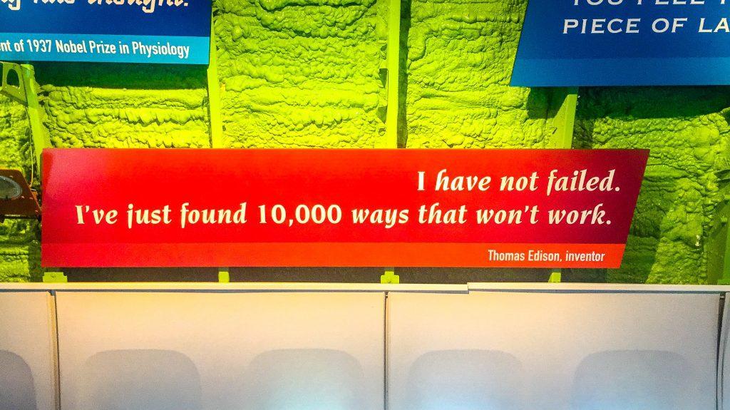 Optimismul și perseverența lui Edison. :)