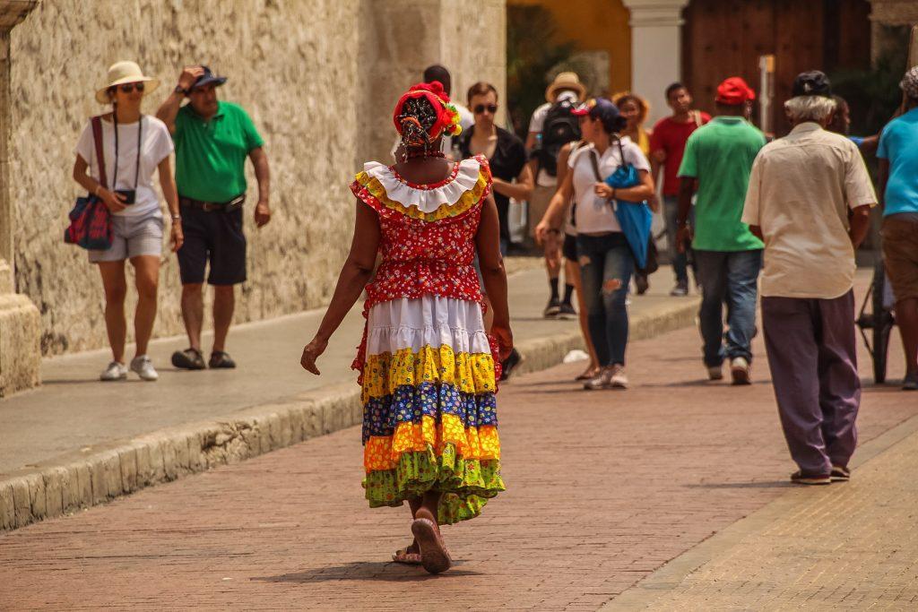 Doamne colorate în Cartagena