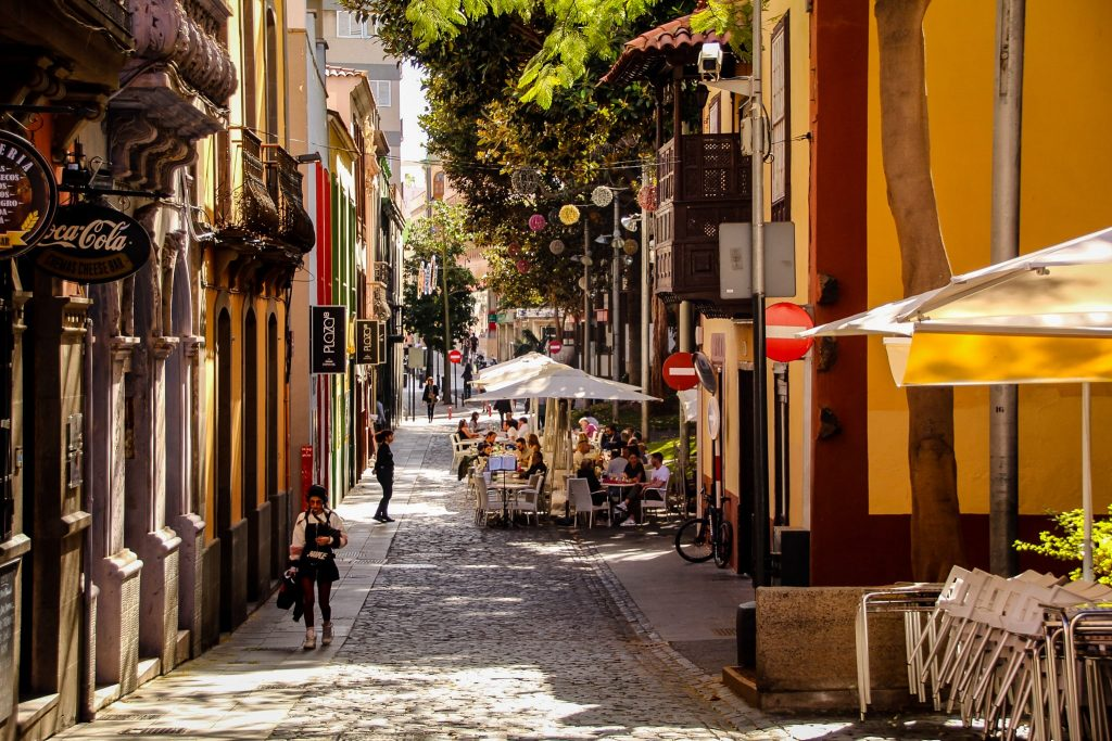 Străzi frumoase din Santa Cruz de Tenerife