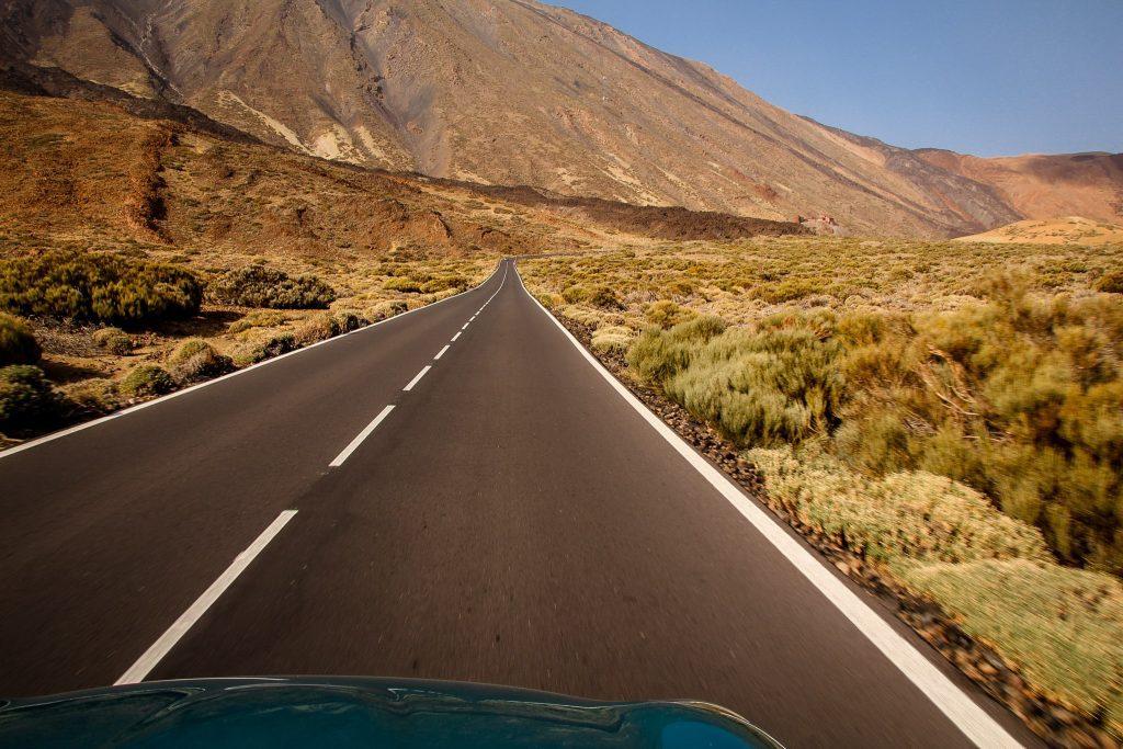 Cu mașina la El Teide