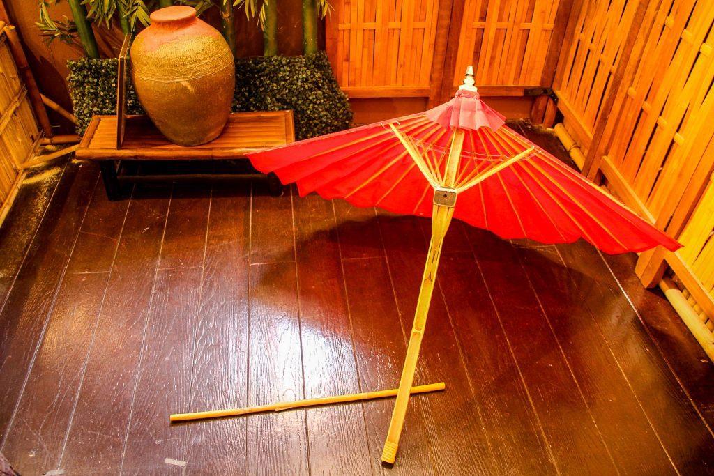 Secțiune transversală într-o umbrelă.