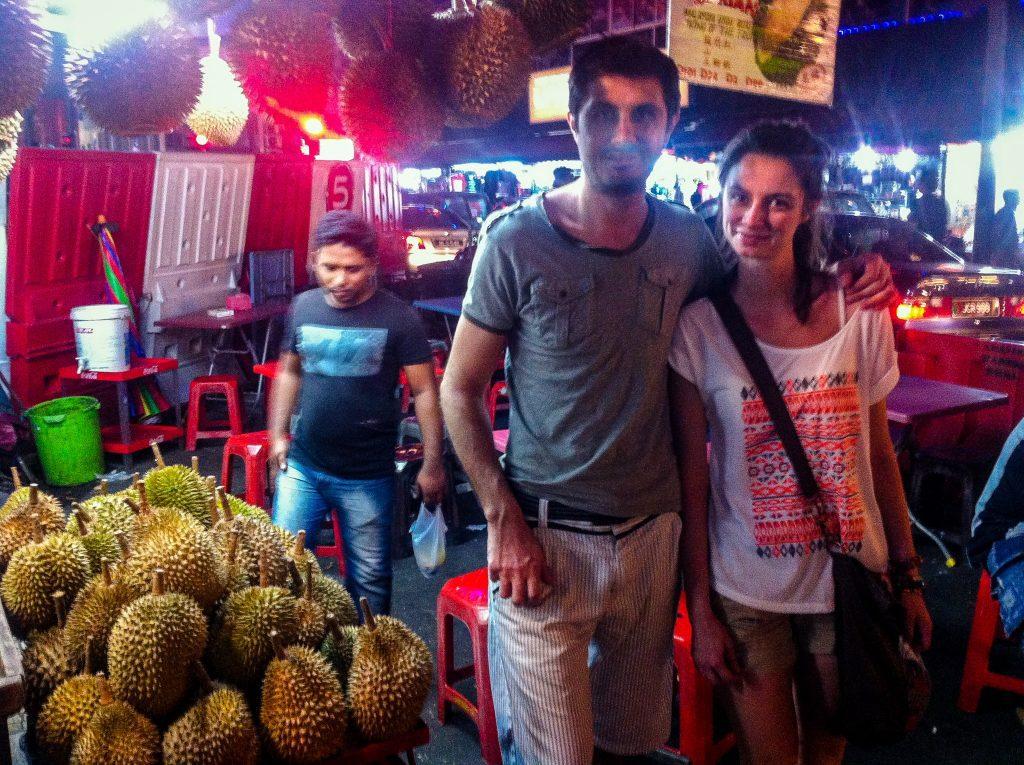 Grămezi de durian în Malaysia