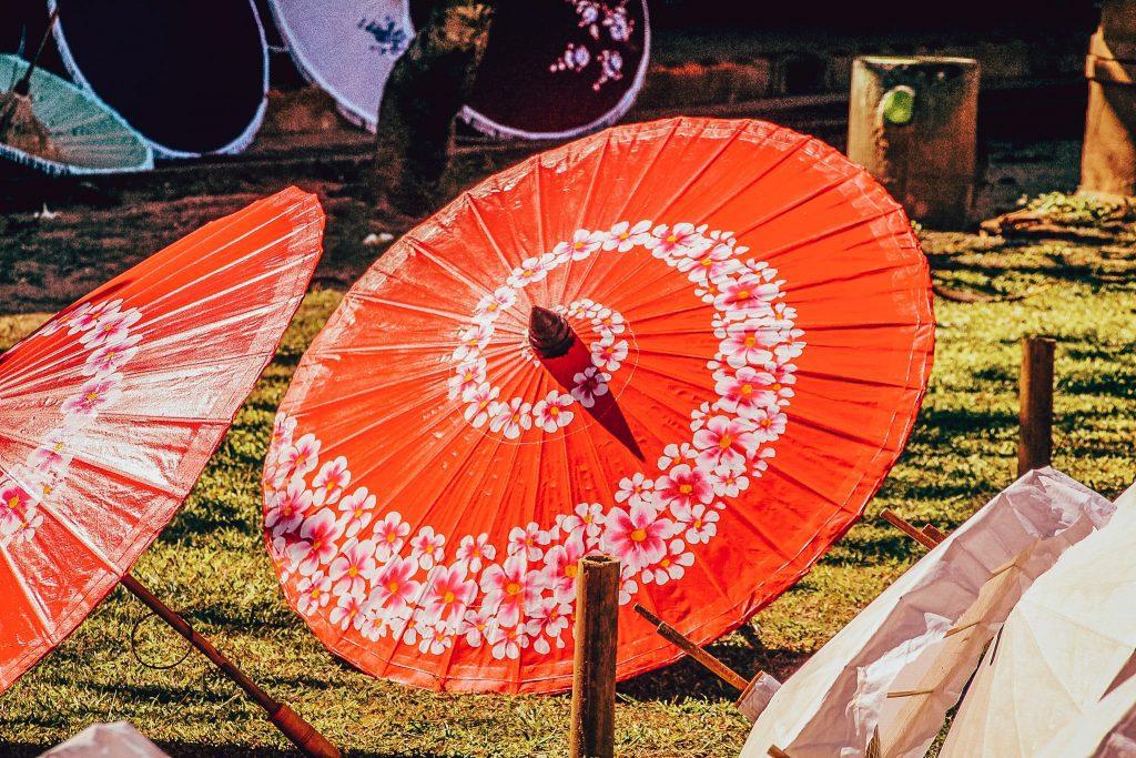 Umbrele la uscat în Bo Sang