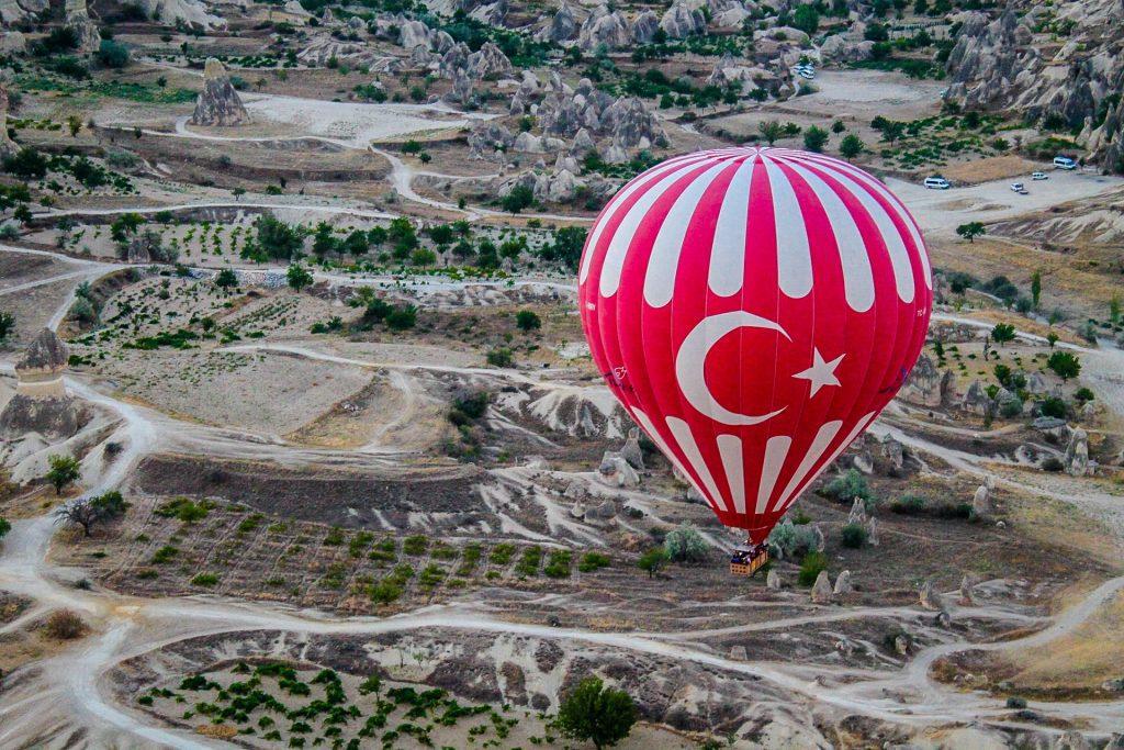 Cappadocia din balon