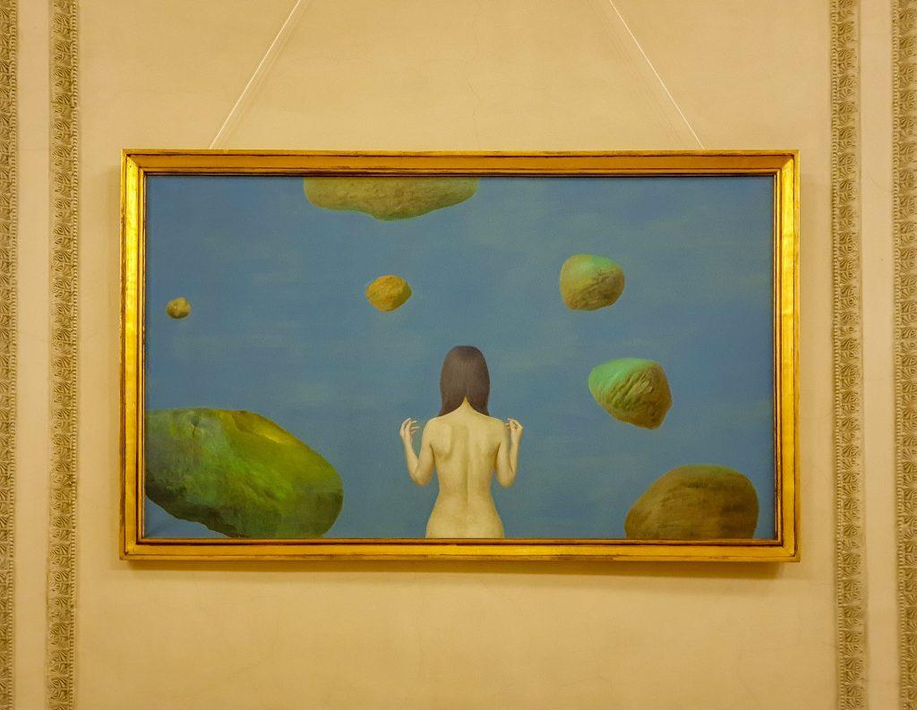 Pictură de Sabin Bălața, expusă în Palatul Parlamentului