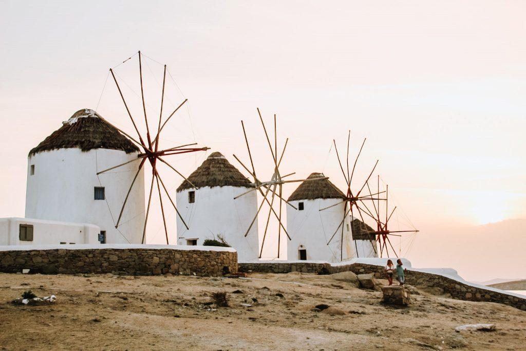 Celebrele mori de vânt din Mykonos
