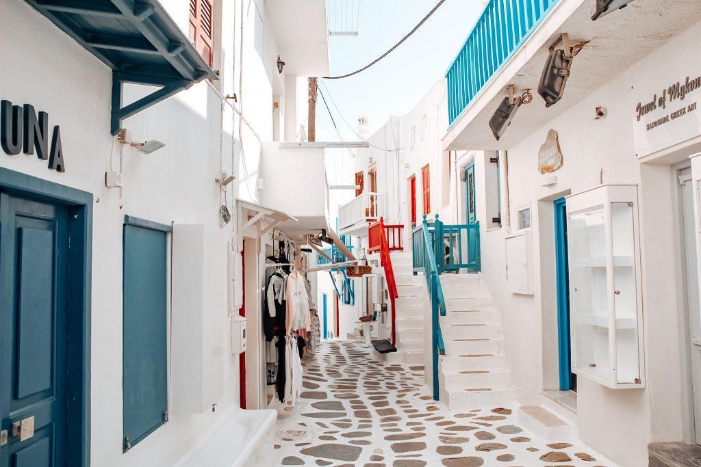 Incredibilele străzi din Mykonos Town