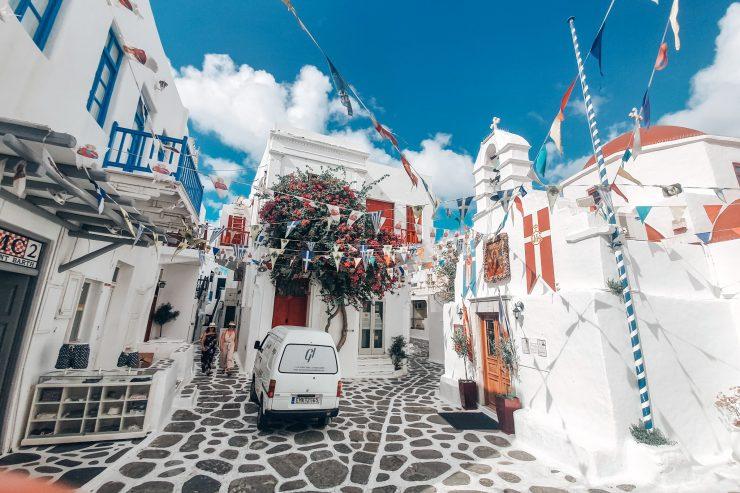Superbele străduțe din Chora, Mykonos