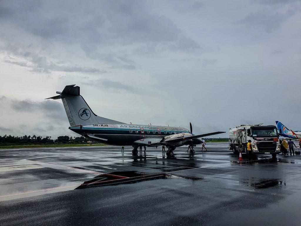Cu avionul ăsta am zburat de la Zanzibar spre Arusha.