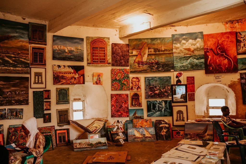 Atelier de pictură într-unul din turnurile Old Fort