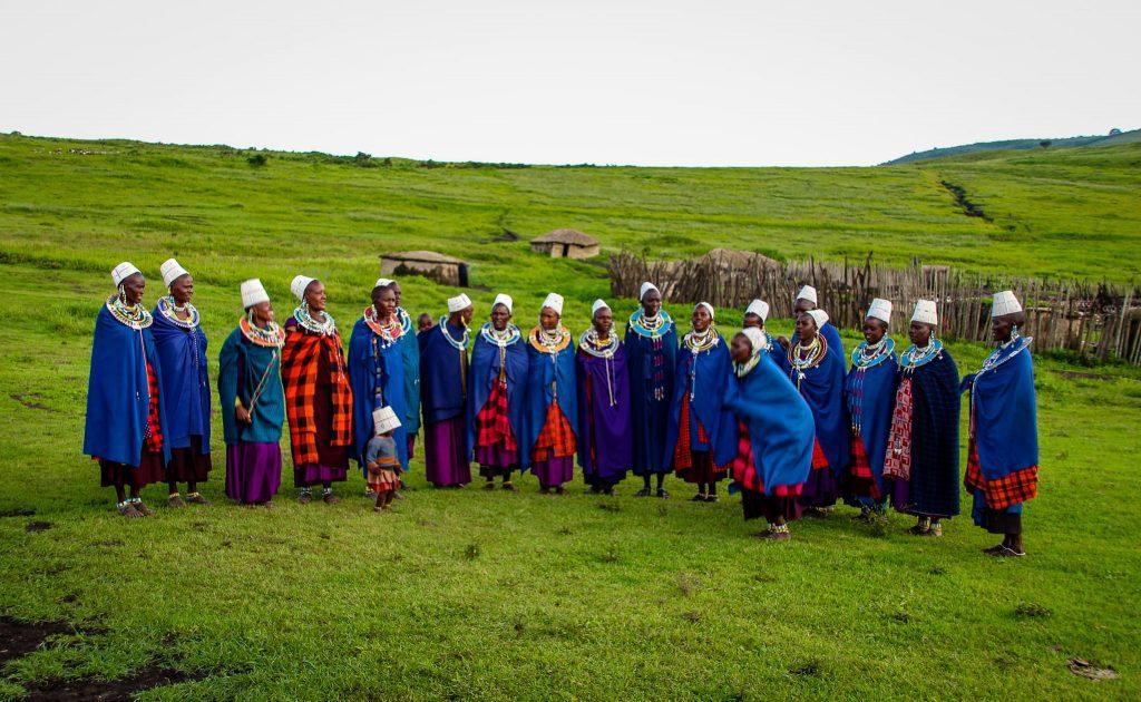 Masai în Ngorongoro