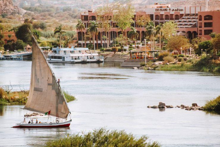 Felucca pe Nil, la Aswan