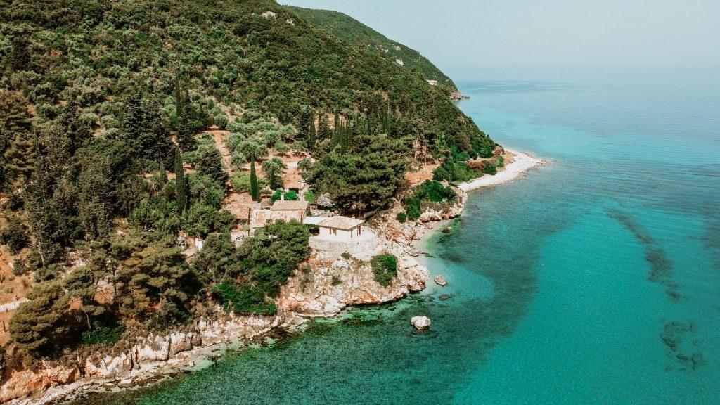 Plaja de lângă Lefkada Town